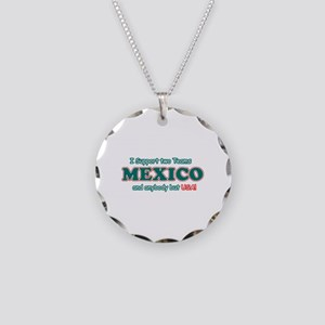 Funny Mexico Designs Necklace Circle Charm