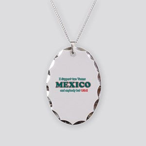 Funny Mexico Designs Necklace Oval Charm
