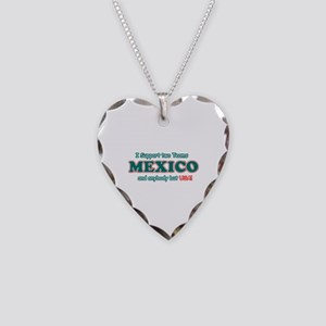 Funny Mexico Designs Necklace Heart Charm