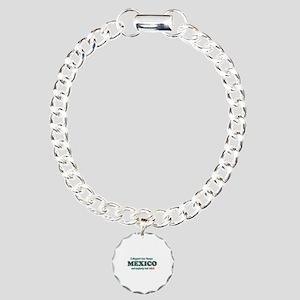 Funny Mexico Designs Charm Bracelet, One Charm
