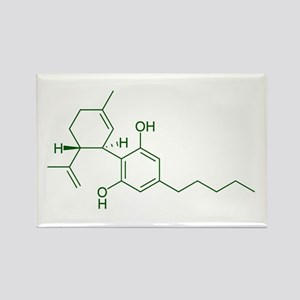 Cannabidiol CBD Rectangle Magnet
