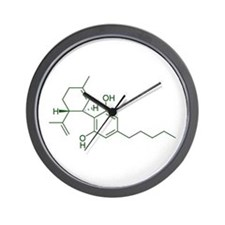 Cannabidiol CBD Wall Clock