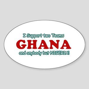 Funny Ghana Designs Sticker (Oval)