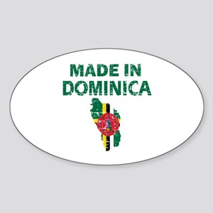 Made In Dominica Sticker (Oval)