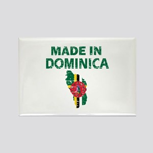 Made In Dominica Rectangle Magnet
