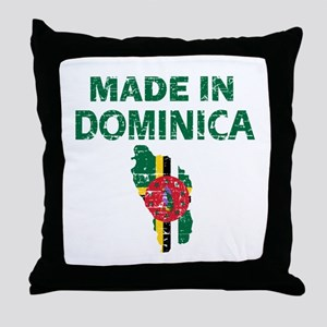 Made In Dominica Throw Pillow
