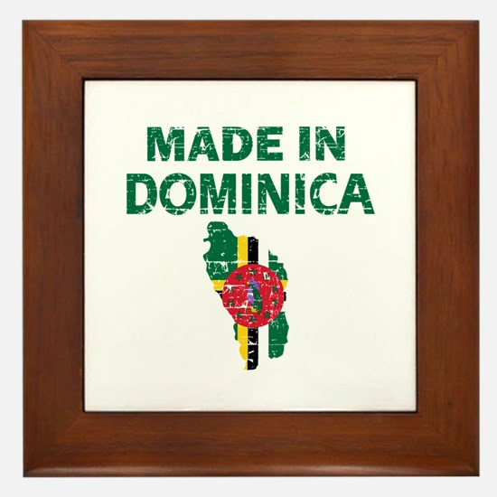 Made In Dominica Framed Tile