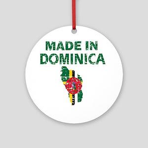 Made In Dominica Ornament (Round)