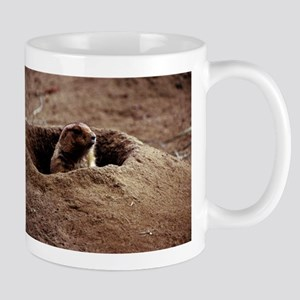 A Black-Tailed Prairie Dog puking his head out Mug