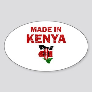 Made In Kenya Sticker (Oval)