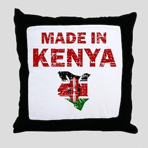Made In Kenya Throw Pillow