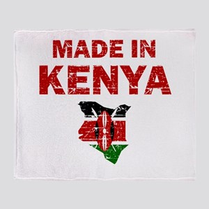 Made In Kenya Throw Blanket