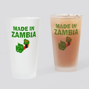 Made In Zambia Drinking Glass