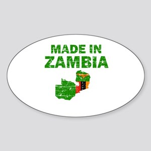 Made In Zambia Sticker (Oval)