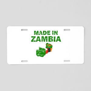 Made In Zambia Aluminum License Plate