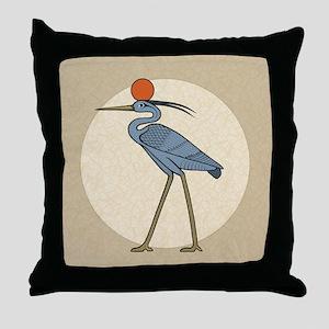 Sun Disc Benu Throw Pillow