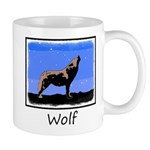 Winter Howling Wolf 11 oz Ceramic Mug