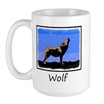 Winter Howling Wolf 15 oz Ceramic Large Mug