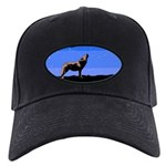 Winter Howling Wolf Black Cap with Patch
