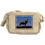 Winter Howling Wolf Messenger Bag