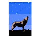 Winter Howling Wolf Postcards (Package of 8)