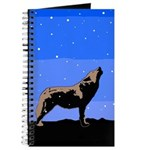 Winter Howling Wolf Journal