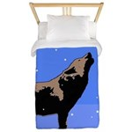Winter Howling Wolf Twin Duvet Cover