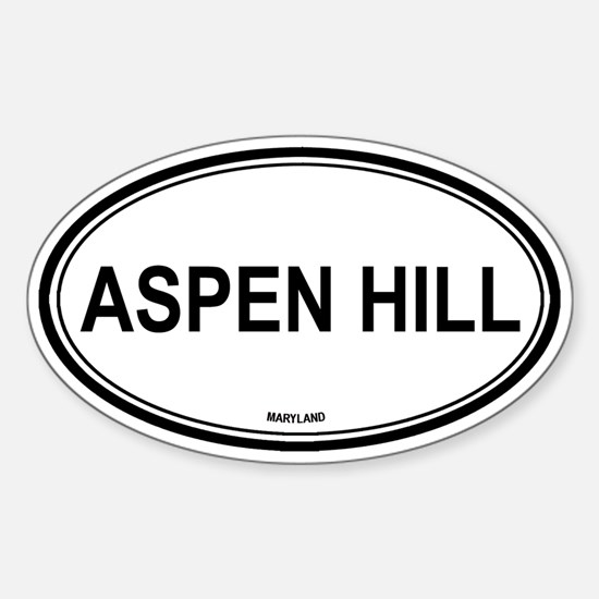 Aspen Hill (Maryland) Oval Decal