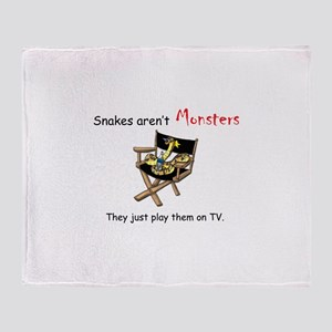 Movie Monsters Throw Blanket