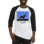 Winter Howling Wolf Baseball Tee