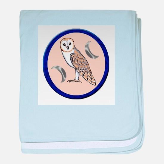 Barn Owl baby blanket