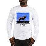 Winter Howling Wolf Long Sleeve T-Shirt