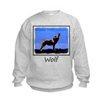 Winter Howling Wolf Kids Sweatshirt