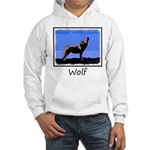 Winter Howling Wolf Hooded Sweatshirt