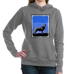 Winter Howling Wolf Women's Hooded Sweatshirt