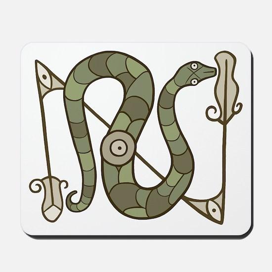 Pictish Snake Mousepad
