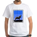 Winter Howling Wolf White T-Shirt
