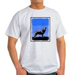 Winter Howling Wolf Light T-Shirt