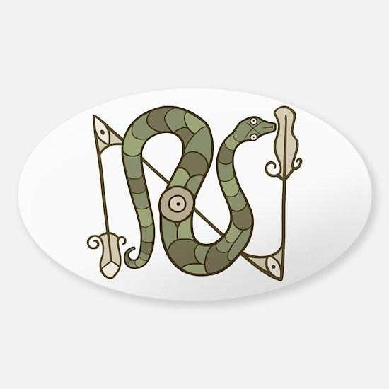 Pictish Snake Sticker (Oval)