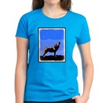 Winter Howling Wolf Women's Dark T-Shirt