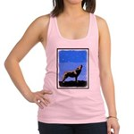 Winter Howling Wolf Racerback Tank Top