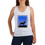 Winter Howling Wolf Women's Tank Top