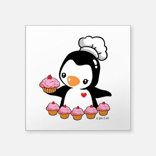 "Bake a Cupcake Square Sticker 3"" x 3"""