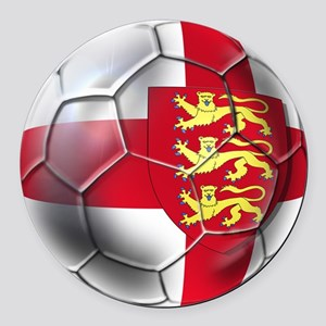 Three Lions Football Round Car Magnet