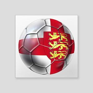 "Three Lions Football Square Sticker 3"" x 3&qu"