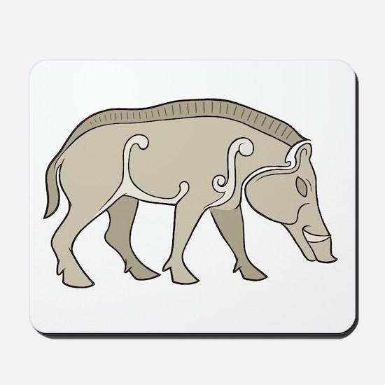 Pictish Boar Mousepad