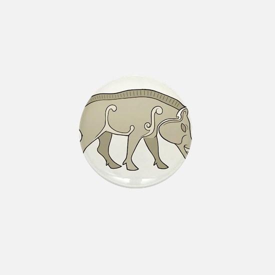 Pictish Boar Mini Button