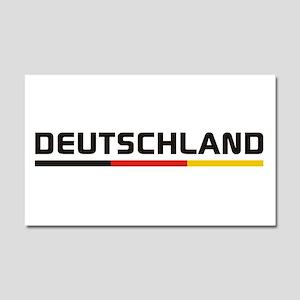 Soccer DEUTSCHLAND Stripe Car Magnet 20 x 12