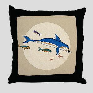 Knossos Dolphin Throw Pillow