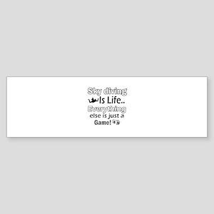 Sky Diving Is Life Sticker (Bumper)